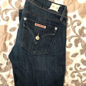 Medium wash Hudson straight leg jeans